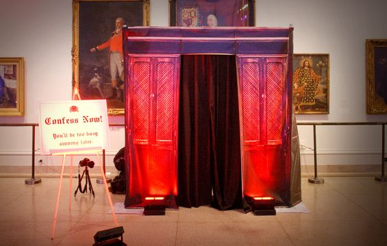 Video confessional booth rental