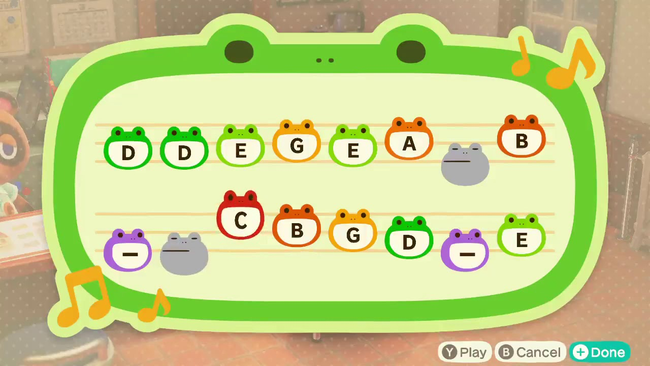 Animal crossing new leaf music notes