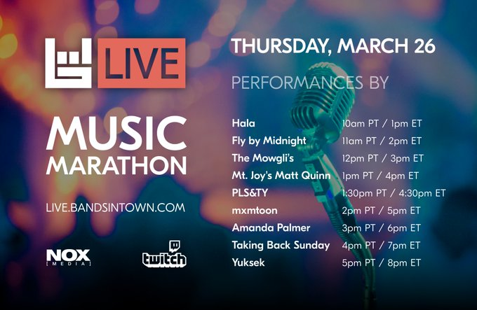 All day music live