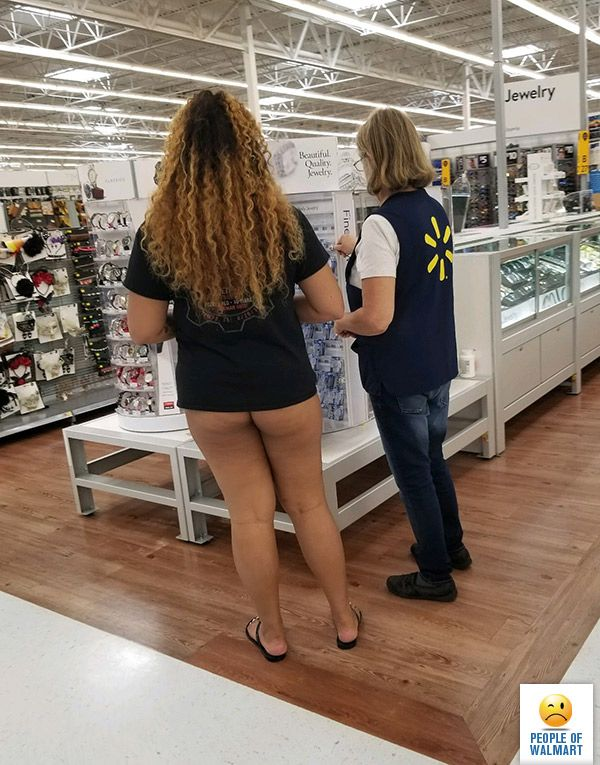Naked in walmart store